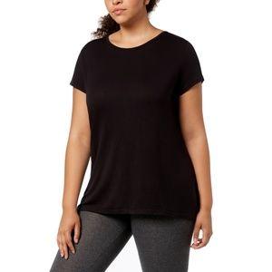 Women's Plus Size Scoop Neck Cutout-Back T-Shirt